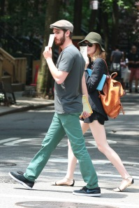 Celebrity Sightings In New York - June 17, 2014